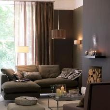 Дизайн интерьера в коричневых тонах символ комфорта