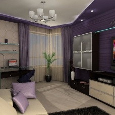 Уютный дизайн интерьера маленькой однокомнатной квартиры