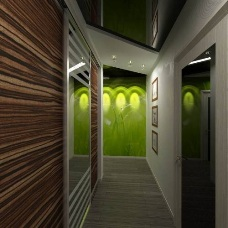 Дизайн интерьера узкого коридора