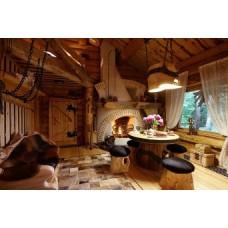 Дизайн интерьера загородного деревянного дома