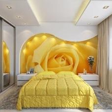 Дизайн интерьера спальни с фотообоями – яркий акцент квартиры