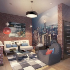 Молодежный дизайн квартиры