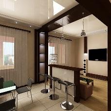Дизайн интерьера совмещенной кухни. Как создать гармоничное пространство?
