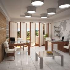 Солидный дизайн интерьера кабинета в офисе