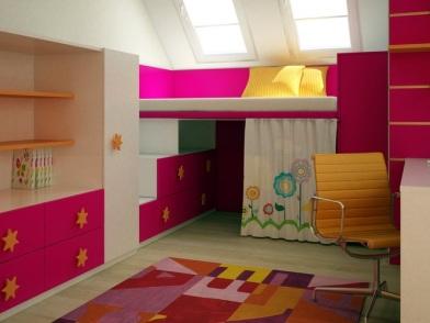 дизайн интерьера маленькой детской комнаты
