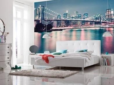 Дизайн интерьера спальни с фотообоями