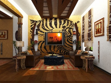 Дизайн интерьера в африканском стиле