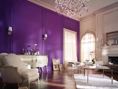 Дизайн интерьера в фиолетовых тонах