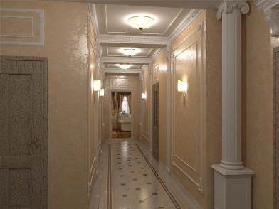 Дизайн интерьера коридора в доме