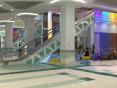 Дизайн интерьера торгового центра