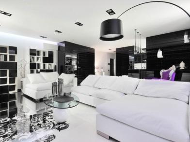 Черно белый стиль в дизайне интерьера