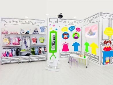 Дизайн интерьера детского магазина