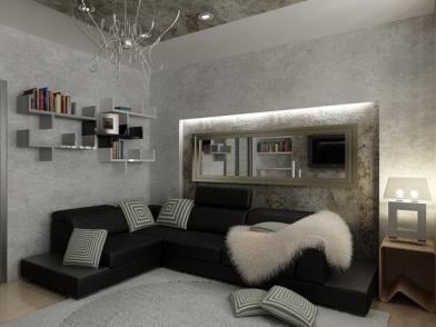 Дизайн интерьера декоративной штукатуркой