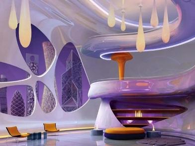Футуристический дизайн интерьера