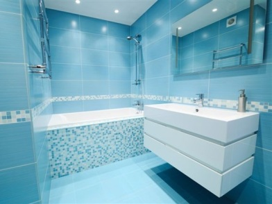 дизайн интерьера в голубых тонах