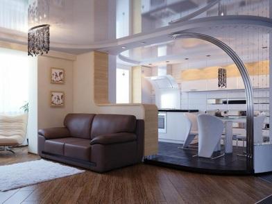 Дизайн интерьера совмещенной кухни