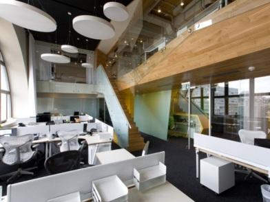 современная разработка дизайна интерьера офиса