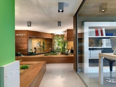 разработка дизайна интерьера офиса в стиле хай тек
