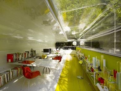 разработка дизайна интерьера офиса в эко стиле
