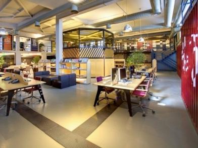 разработка дизайна интерьера офиса в промышленном стиле