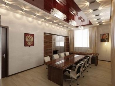 дизайн интерьера кабинета в офисе у чиновника