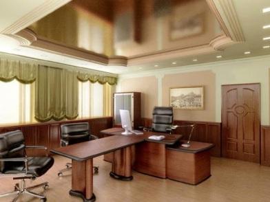 дизайн интерьера кабинета в офисе для совещаний