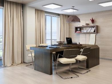 дизайн интерьера кабинета в офисе для переговоров