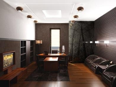 дизайн интерьера кабинета в офисе для отдыха