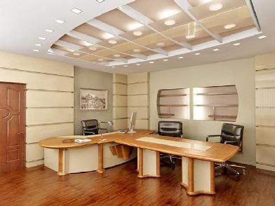 стандартный дизайн интерьера кабинета в офисе