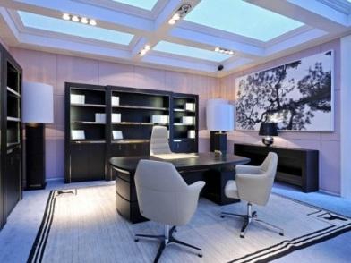 дизайн интерьера кабинета в офисе в стиле прованс