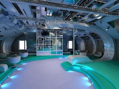 Дизайн интерьера ночного клуба в простом стиле