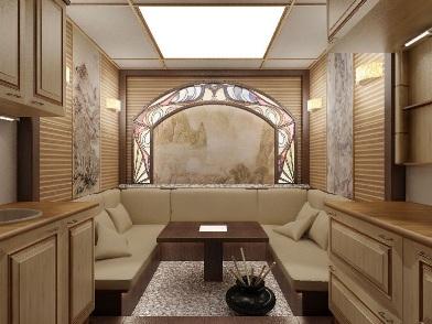 Витражи в дизайне интерьера комнаты отдыха
