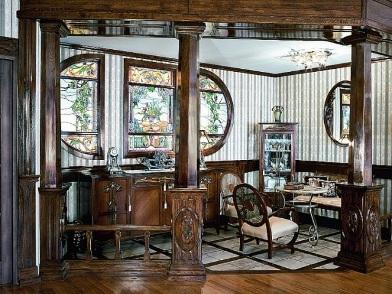 Витражи в дизайне интерьера кабинета