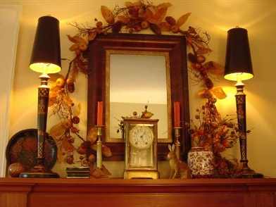Осенний дизайн интерьера в гостиной