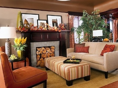 Осенний дизайн интерьера в стиле прованс