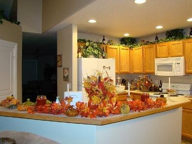 Осенний дизайн интерьера на кухне