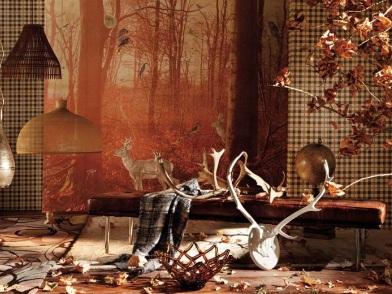 Осенний дизайн интерьера для охотника