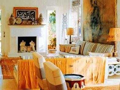 турецкий дизайн интерьера с камином