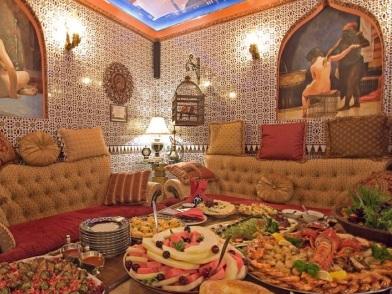 турецкий дизайн интерьера в турецкой сауне