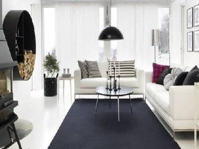 датский дизайн интерьера с печью