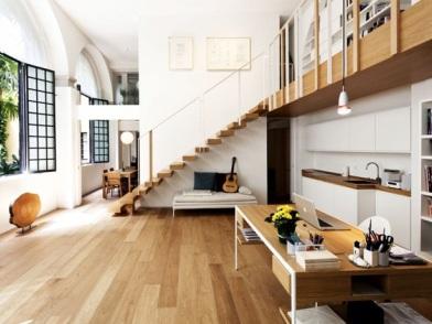 датский дизайн интерьера с лестницей