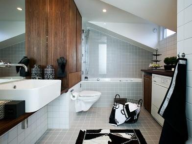 датский дизайн интерьера ванной комнаты