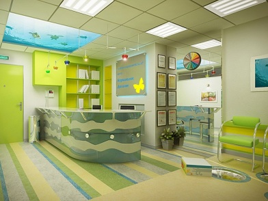 Дизайна интерьера детского центра ресепшн