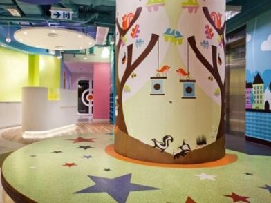 Дизайна интерьера детского центра холл