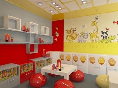 Дизайна интерьера детского центра игровая