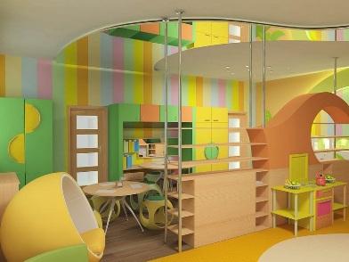 Дизайна интерьера детского центра раздевалка