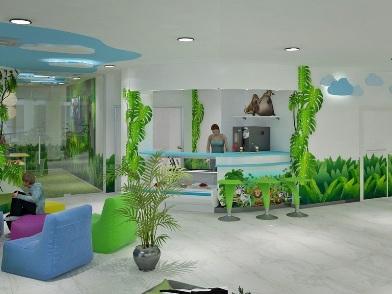 Дизайна интерьера детского центра в стиле сафари