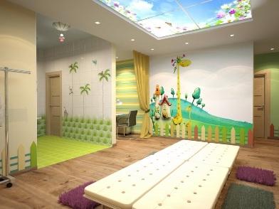Дизайна интерьера детского центра стены с росписью