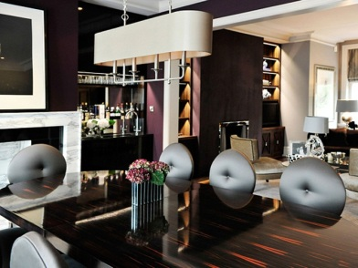 Дизайн интерьера в стиле ар деко в гостиной