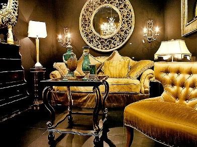 Дизайн интерьера в стиле ар деко с диванами